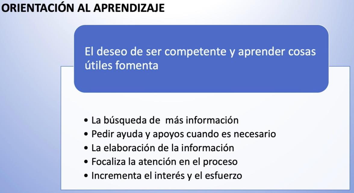 Imagen que muestra la orientación al aprendizaje