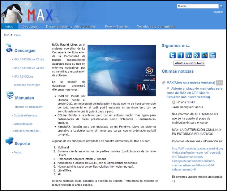 Comunidad Max.