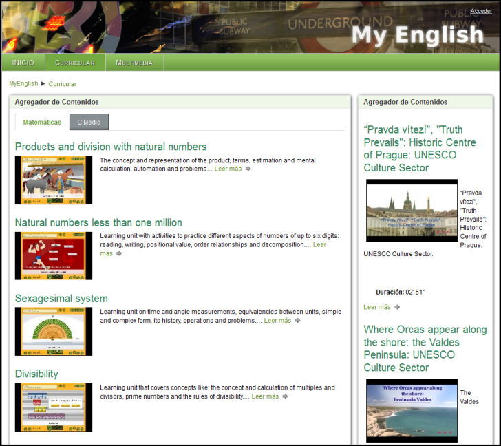 Comunidad MyEnglis de recursos para el aprendizajae del inglés.