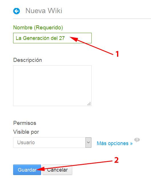Crear una nueva wiki 3